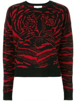 Джемпер с абстрактным тигриным принтом Robert Rodriguez. Цвет: красный