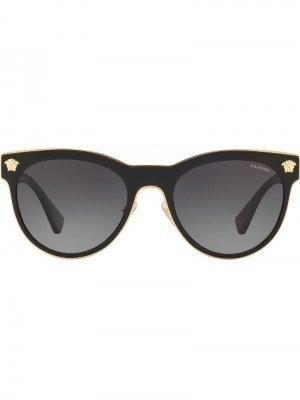 Солнцезащитные очки Phantos в круглой оправе Versace Eyewear. Цвет: черный