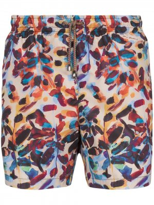 Плавки-шорты с принтом Missoni Mare. Цвет: синий