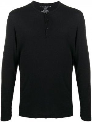 Рубашка хенли с длинными рукавами Majestic Filatures. Цвет: черный