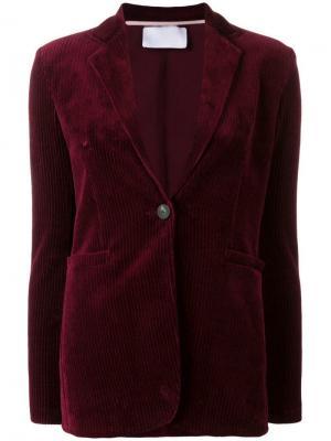 Вельветовый пиджак прямого кроя Harris Wharf London. Цвет: красный