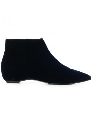 Pointed ankle boots The Seller. Цвет: синий