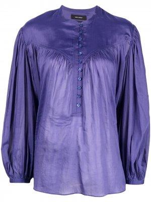 Блузка с объемными рукавами Isabel Marant. Цвет: фиолетовый
