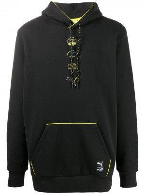 Толстовка с капюшоном из коллаборации Emoji Puma. Цвет: черный