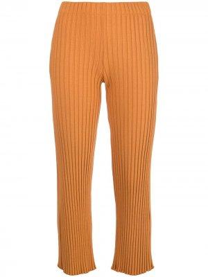Укороченные брюки с завышенной талией Simon Miller. Цвет: оранжевый