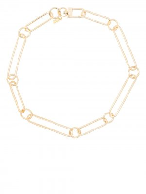 Large chain-link necklace Kenneth Jay Lane. Цвет: золотистый