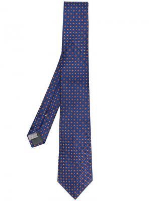 Printed tie Canali. Цвет: синий