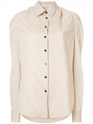 Полосатая рубашка Olivier Theyskens. Цвет: нейтральные цвета