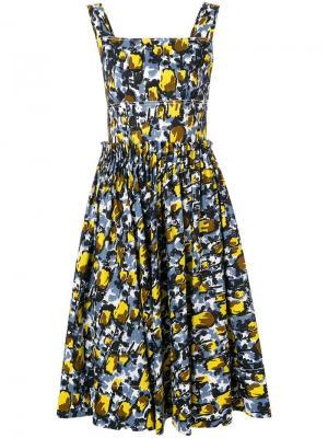 Летнее платье с принтом Marni. Цвет: черный
