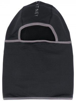 Балаклава с логотипом adidas by Stella McCartney. Цвет: черный