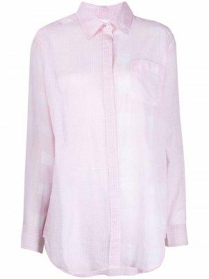 Рубашка в клетку Solid & Striped. Цвет: розовый
