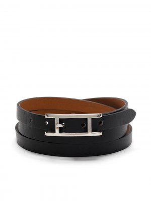 Браслет Kelly Behapi Double Tour 2013-го года Hermès. Цвет: черный
