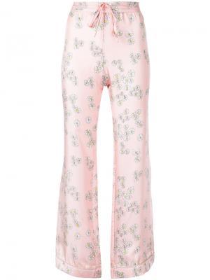 Пижамные брюки He Loves Me Not Macgraw. Цвет: розовый