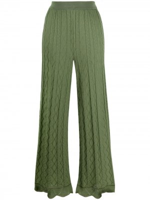Расклешенные брюки M Missoni. Цвет: зеленый