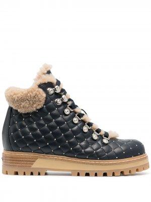 Стеганые трекинговые ботинки St.Moritz Le Silla. Цвет: синий