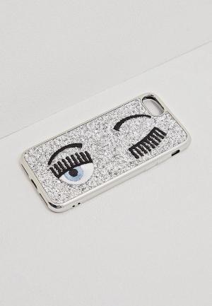 Чехол для iPhone Chiara Ferragni Collection. Цвет: серебряный