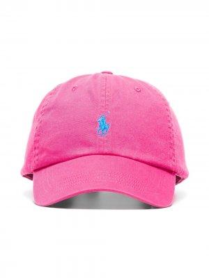 Бейсбольная кепка с вышитым логотипом Polo Ralph Lauren. Цвет: розовый