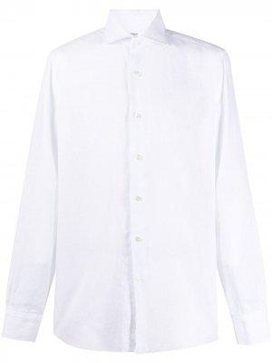 Рубашка Culto с косым воротником Barba. Цвет: белый
