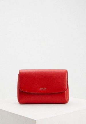 Сумка поясная DKNY. Цвет: красный