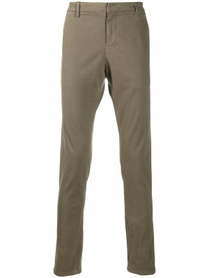 Прямые брюки чинос Dondup. Цвет: коричневый