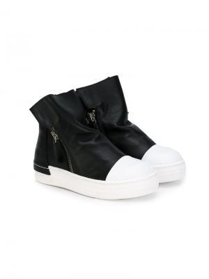 Высокие ботинки с молниями Cinzia Araia Kids. Цвет: черный