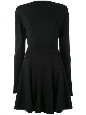 Трикотажное платье 1990 года выпуска Alaïa Vintage. Цвет: черный