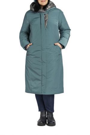 Пальто D`IMMA. Цвет: бирюзовый