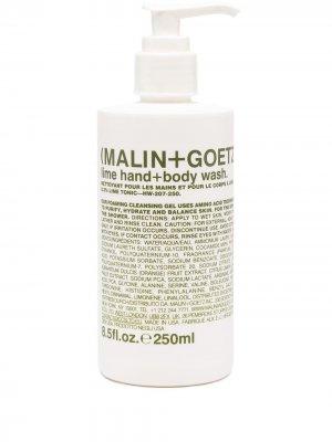Гель для рук и тела с ароматом лайма MALIN+GOETZ. Цвет: белый