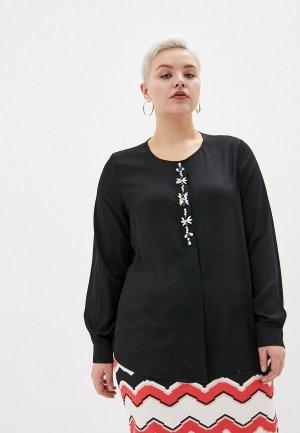 Блуза Persona by Marina Rinaldi. Цвет: черный