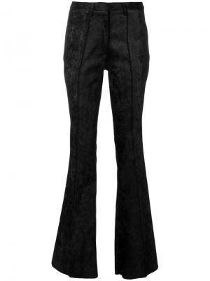 Расклешенные брюки Nude. Цвет: черный