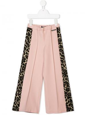 Панельные расклешенные брюки Marco Bologna Kids. Цвет: розовый