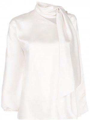 Блузка Jane асимметричного кроя Sachin & Babi. Цвет: белый