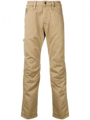 Straight-leg trousers G-Star Raw Research. Цвет: коричневый