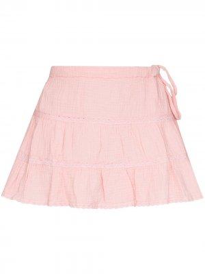 Ярусная юбка Jane Honorine. Цвет: розовый