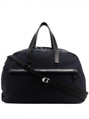 Дорожная сумка с логотипом Giorgio Armani. Цвет: синий