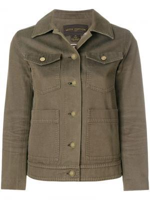 Облегающая куртка-рубашка Louis Vuitton Vintage. Цвет: коричневый