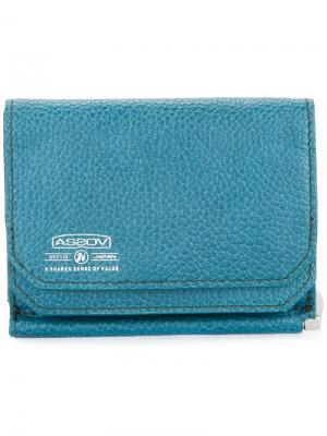 Бумажник с зажимом для купюр Shrink As2ov. Цвет: синий
