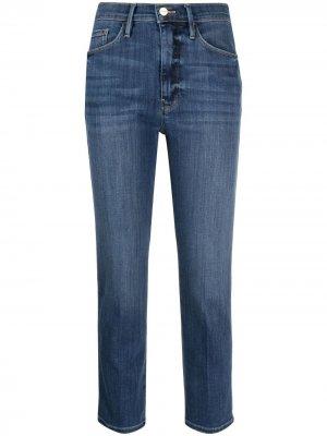 Укороченные джинсы Le Pixie Sylvie FRAME. Цвет: синий
