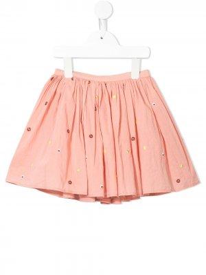 Пышная юбка Jemima с цветочным принтом Velveteen. Цвет: розовый