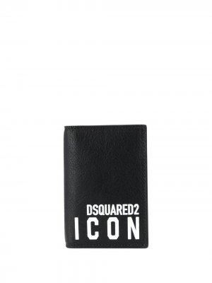 Складной картхолдер Icon Dsquared2. Цвет: черный