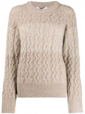 Пуловер фактурной вязки Agnona. Цвет: нейтральные цвета