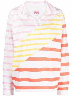 Пуловер в полоску Solid & Striped. Цвет: белый