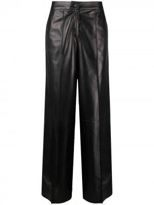 Байкерские брюки широкого кроя Drome. Цвет: черный