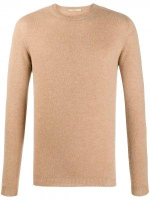 Кашемировый джемпер с отделкой в рубчик Nuur. Цвет: коричневый
