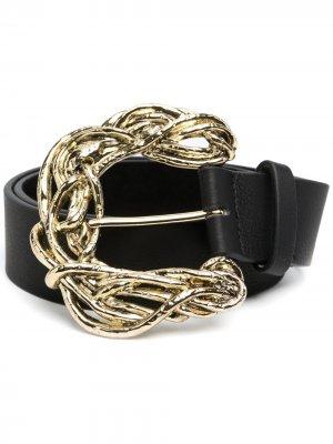 Ремень с пряжкой B-Low The Belt. Цвет: черный