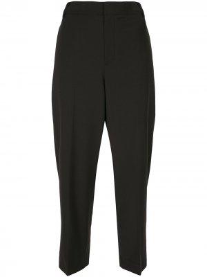 Укороченные брюки строгого кроя Tibi. Цвет: черный