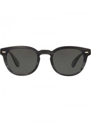 Солнцезащитные очки Sheldrake в круглой оправе Oliver Peoples. Цвет: черный