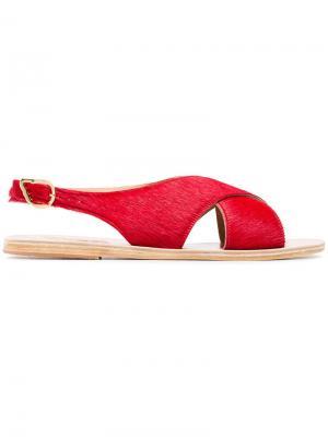 Сандалии с ремешком через пятку Maria Ancient Greek Sandals. Цвет: красный