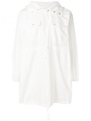 Парка с капюшоном Engineered Garments. Цвет: белый