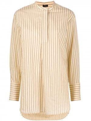 Рубашка-туника Aubrey с воротником-стойкой Joseph. Цвет: нейтральные цвета